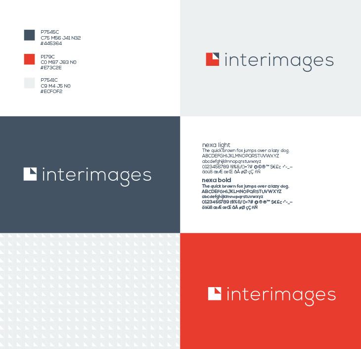 Détail de l'identité graphique d'Interimages