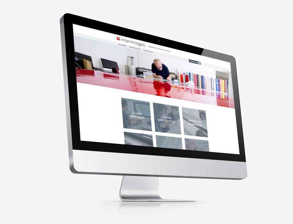 Vue du nouveau site internet Interimages