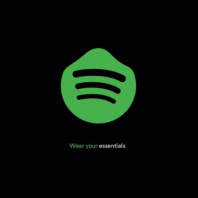Le logo Spotify re-designé pour le COVID-19