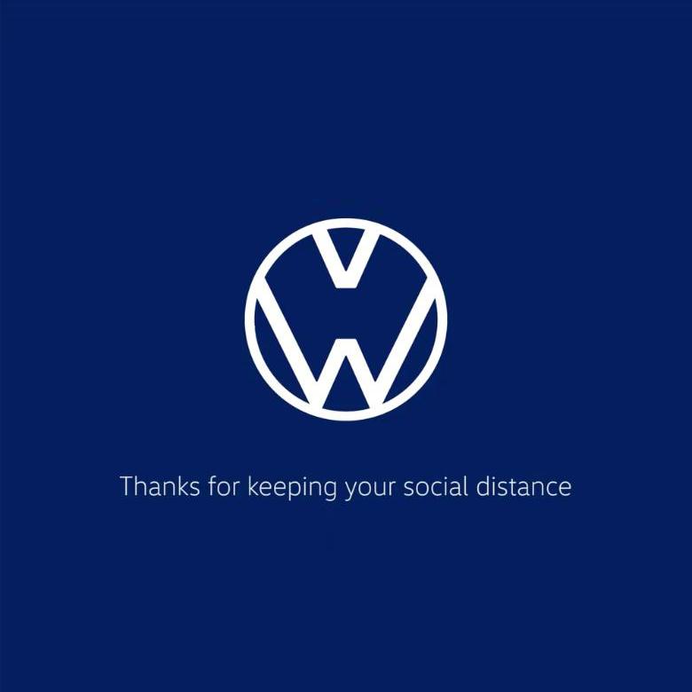 Le logo Volkswagen re-designé pour le COVID-19