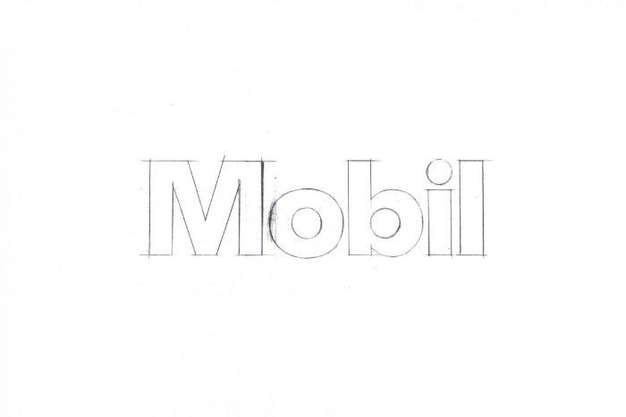 Croquis logo Mobil