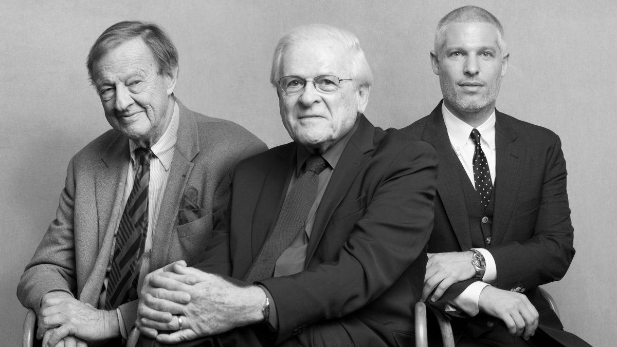 Portrait des designers Ivan Chermayeff, Tom Geismar et Sagi Haviv